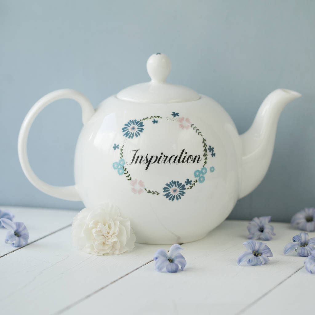 Personalised Inspiration China Teapot