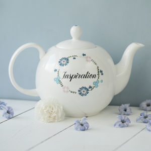 Personalised Inspiration China Teapot - kitchen