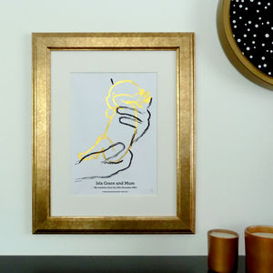 'The Love' Personalised Scale Premature Baby Foil Print - dates & special occasions