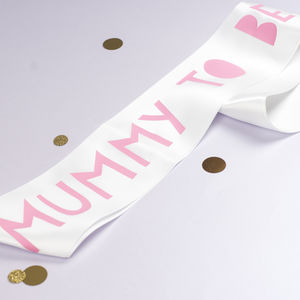 Papercut Style Mummy To Be Sash