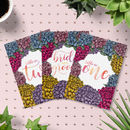 Dahlia Floral Wedding Table Numbers Pack
