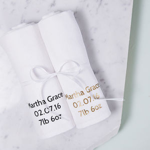 Personalised New Baby Muslin Gift Set - new baby gifts