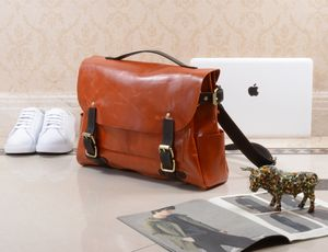 Leather Laptop Messenger Bag Personalised