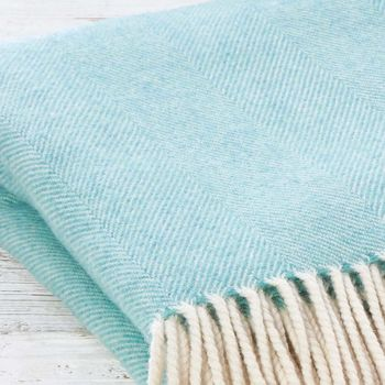 Luxury Mint Merino Wool Throw
