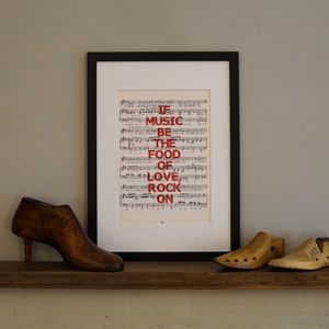 Music Sayings Sheet Music Print - limited edition art