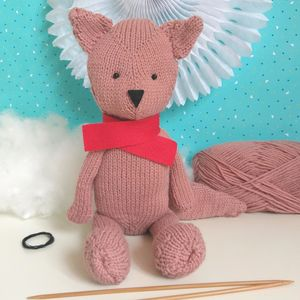 Rufus The Fox Knitting Craft Kit - sewing kits