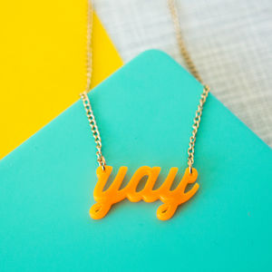 Acrylic Yay Sweet Thing Necklace