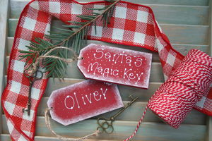 Handmade Personalised Wooden Santa's Magic Key