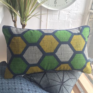 Bold Vintage Kimono Geometric Cushion Cover With Insert - cushions