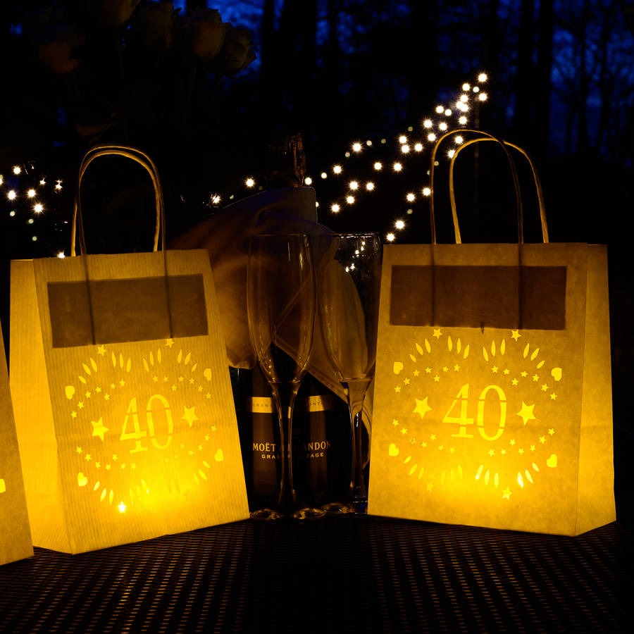 40th Birthday Party Decoration Lantern Bag