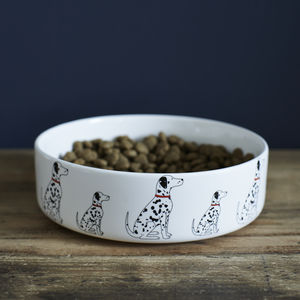 Dalmatian Dog Bowl - dogs