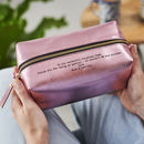 Personalised Secret Message Wash Bag For Women