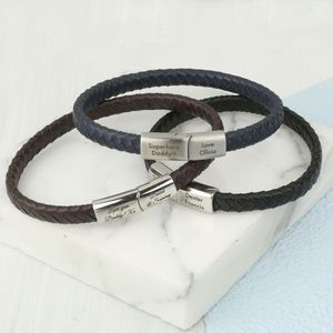 Men's Personalised Woven Bracelet - bracelets