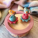 Classical Dancing Figurines Wooden Music Boxes