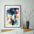 Colourful Modern Art Prints Framed Art Abstract