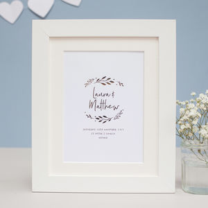 Wedding Personalised Foil Print
