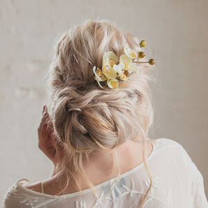 Summer Orchid Wedding Hair Comb
