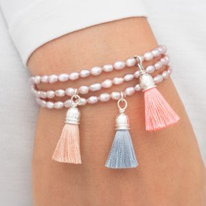 Bella Personalised Friendship Tassel Bracelet - for children