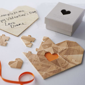 Wooden Heart Jigsaw Puzzle - for her