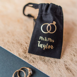 Personalised Wedding Ring Mini Pouch - new in wedding styling