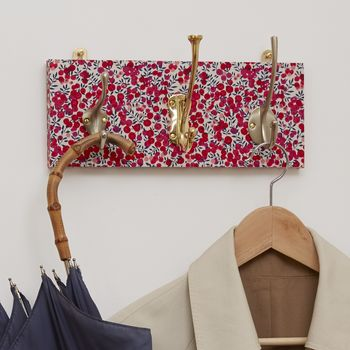 Liberty Print Mismatched Coat Rack With Three Hooks
