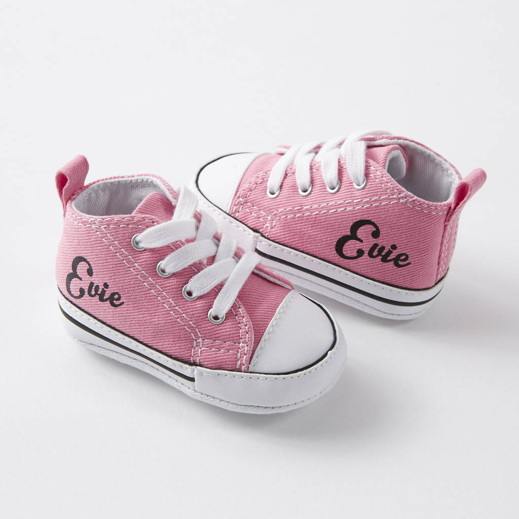 baby converse sneakers personalised by nappy head