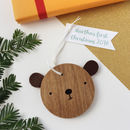 Wooden Bear Decoration