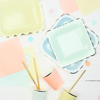 Pastel And Gold Tableware Bundle