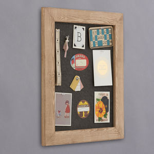 Distressed Wood Framed Pinboard Noticeboard