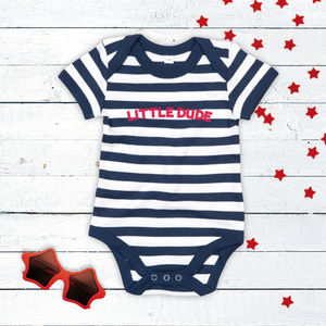 Little Dude Striped Bodysuit