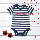 Little Dude Striped Organic Baby Vest