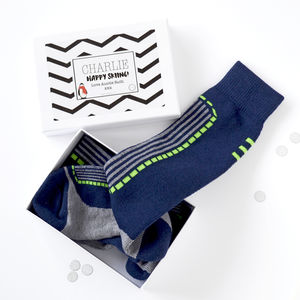 Personalised Ski Socks Gift Box - festive socks