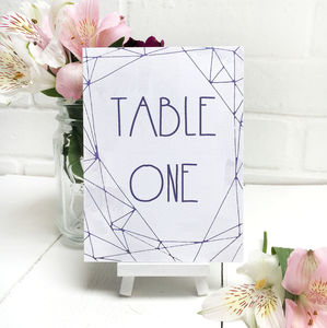Lilac Crystal Watercolour Table Number Or Name Cards - table decorations