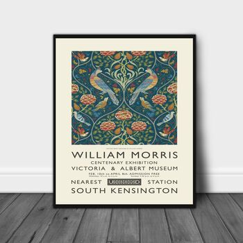 William Morris Blue Flower Print
