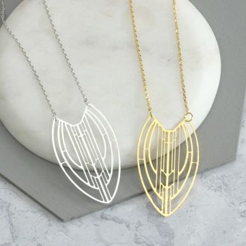 Alto Laser Cut Aztec Necklace