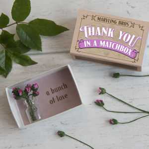 Thank You Gift Miniature Bouquet Of Paper Roses