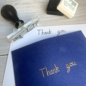 Write Your Own Thank You Stamp
