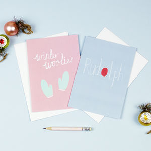 Rudolph And Winter Woolies Christmas Card Pack