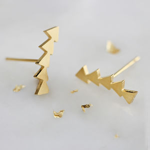 Geometric Ear Climbers - contemporary jewellery