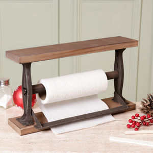 French Country Wooden Kitchen Roll Dispenser