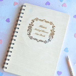 Personalised Maid Of Honour Notebook - whats new