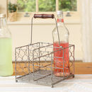 Grey Farmhouse Chickenwire Bottle Caddy