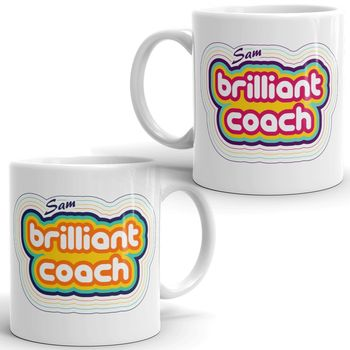 Personalised Brilliant Coach Ceramic Mug
