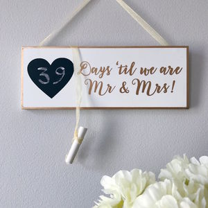 Wedding Countdown Plaque - room decorations