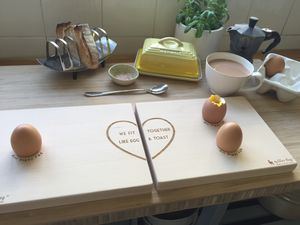 Personalised Couples Dippy Egg Board - egg cups & cosies