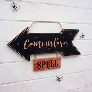 Come In For A Spell Halloween Sign - what's new