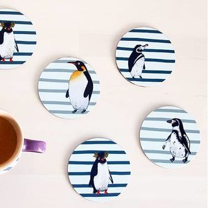 Penguin Waddle Coasters