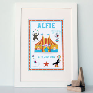 Personalised Name Print Circus Style - children's pictures & paintings
