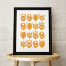 Flower Pattern Retro Scandinavian Print