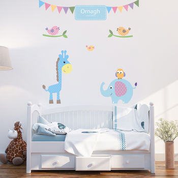 Personalised Baby Boy Wall Stickers